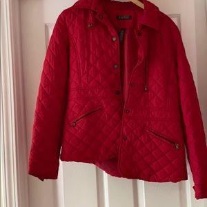 Lauren red quilted jacket